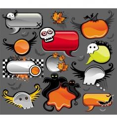 halloween speech bubbles vector image vector image