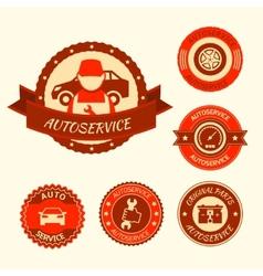 Car auto service set vector image vector image