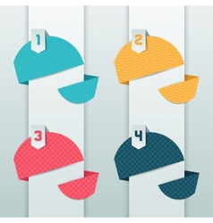 Patterned background numbered origami banners vector image