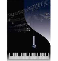 piano and microphone vector image vector image
