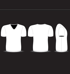 blank t shirt vector image vector image