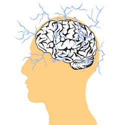 concept of brain power vector image vector image