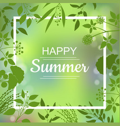 happy summer green card vector image vector image