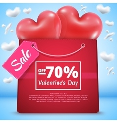 Three red balloons sale 70 vector image vector image