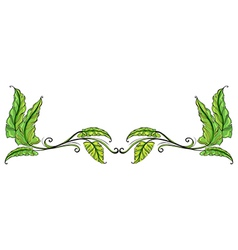 A leafy border vector