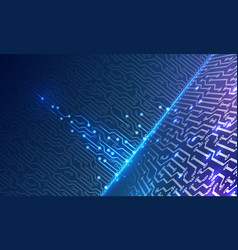 Abstract glowing on technology background vector
