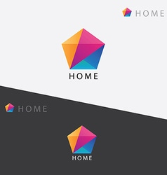 Abstract multicolored geometric polygon logo vector image