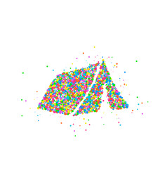 abstract tourist tent vector image