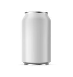 aluminium can mockup 330 ml isolated vector image
