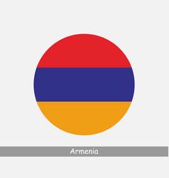 Armenia round circle flag vector