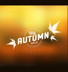 Autumn sale retro poster vector