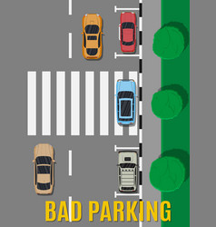 Bad or wrong car parking vector