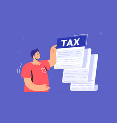 big tax form or annual notification monthly vector image
