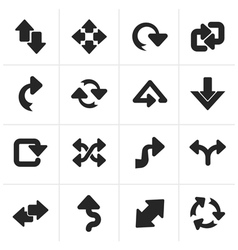 Black different kind of arrows icons vector