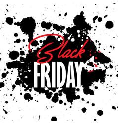 black friday grunge sale background vector image