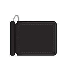 black leather wallet purse case for money credit vector image