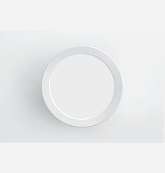 Blank paper frame on white wall vector