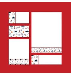 brand letterhead template vector image
