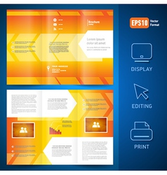 brochure folder leaflet geometric arrow line vector image