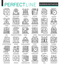 Business motivation and discipline outline mini vector