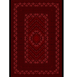 Carpet with a pattern red roses vector