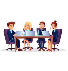 Cartoon business meeting conference vector