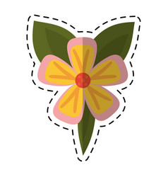 Cartoon freesia flower tropical icon vector