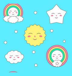 childrens pattern for wallpaper vector image