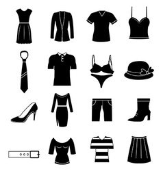 Cloths icons set vector