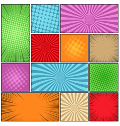Comic colorful composition vector