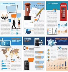 Communication And Connection Chart Diagram vector