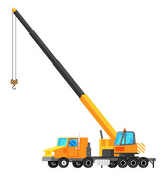 crane truck isolated on white vector image