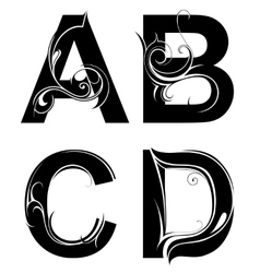 Decorative letter shapes vector image