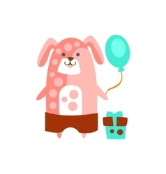 Dog With Party Attributes Girly Stylized Funky vector image