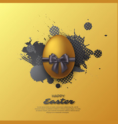 Easter golden egg vector