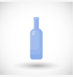 empty glass bottle flat icon vector image