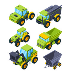 farm or village various transport isometric vector image