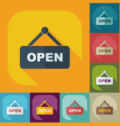 Flat modern design with shadow icons open label vector