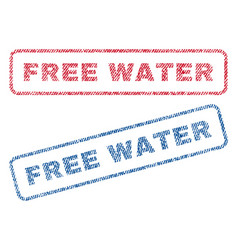 free water textile stamps vector image