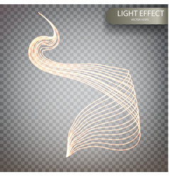 glitter magic sparkle swirl trail effect vector image