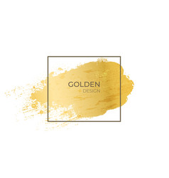 golden frame realistic gold grunge texture in vector image