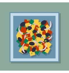 Greek salad on the plate vector