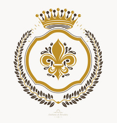Heraldic sign element heraldry emblem insignia vector