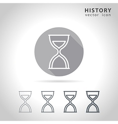 History outline icon vector image vector image