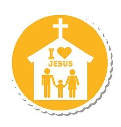 I love jesus design vector