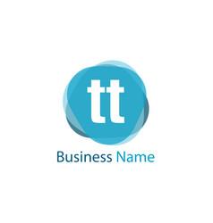 initial letter tt logo template design vector image