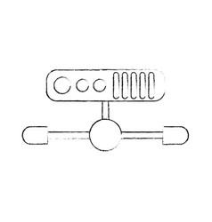 internet servers technology vector image