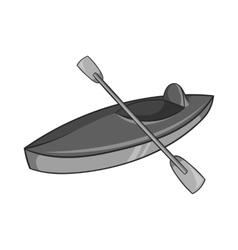 Kayak icon black monochrome style vector image