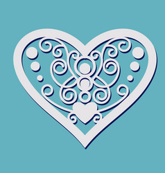 Lace heart shape vector