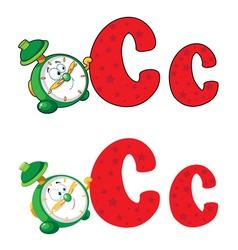 Letter C clock vector